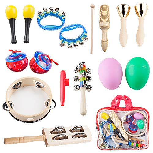 Vangoa Musical Instruments for Kids, Preschool Educational Early Learning Toys Musical Toys for Boys and Girls with Carrying Bag, Type A by Vangoa