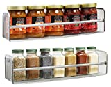 : DecoBros 2 Pack Wall Mount Single Tier Mesh Spice Rack, Chrome