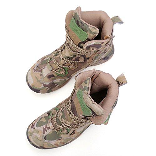 Emansmoer top Camo Combat Homme Chasse Tactical Outdoor Bottes Imperméable Armée De Suède Trail Chaussures High Randonnée BwUWBxqEr