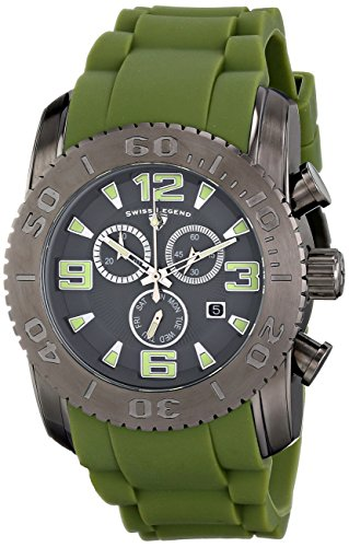 Swiss Legend Men's 10067-GM-014-MGRS Commander Analog Display Swiss Quartz Green Watch