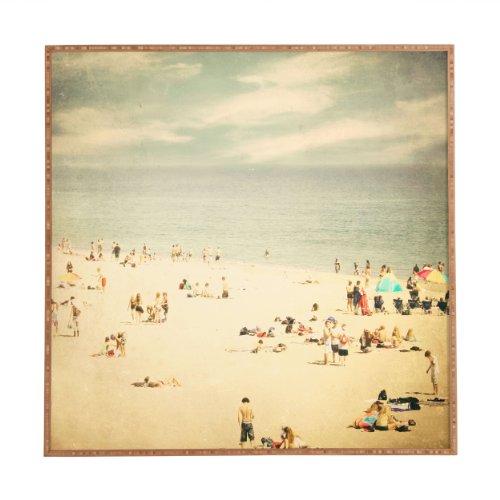 Deny Designs Shannon Clark Vintage Beach Framed Wall Art, 30 x 30 (Framed Vintage Art)