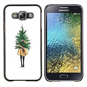Eason Shop / Premium SLIM PC / Aliminium Casa Carcasa Funda Case Bandera Cover - Chica Significado minimalista Navidad - For Samsung Galaxy E5 E500