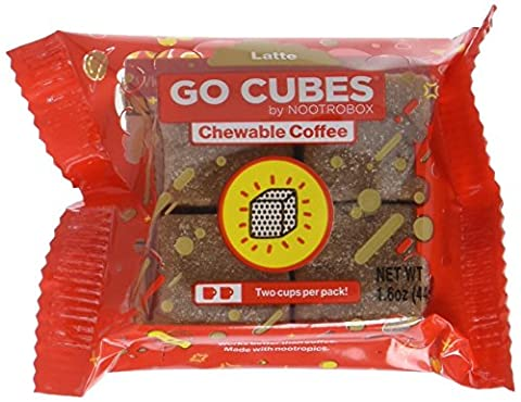 GO CUBES Energy Chews, Latte Coffee Flavored, 4 count chews (20 Pack) - Flavored Chew