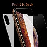 iphone 4 front screen protector - QRemix Front and Back Screen Protector Compatible with iPhone Xs Max [2-Pack], Tempered Glass [3D Touch] Front and Rear Anti-Fingerprint/Scratch Compatible with iPhoneXS Max (6.5 inch)
