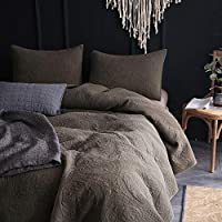 Slate Grey RH8SY008S KASENTEX Stone-Washed 100/% Cotton Polyester Filling Floral Embroidery Stitched Decorative Square Accent Pillow for Bed Couch Sofa Chair Bedroom Living Room Perfect Size 18x18