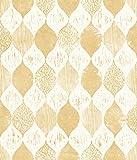 York Wallcoverings ME1566 Magnolia Home Vol. II Woodblock Print Yellow