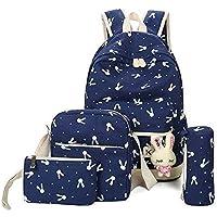 Navy Blue Backpacks Bags Printing Cute School Bag Backpack For Teenager Girls Rucksack Moclila Shoulder Bag Set