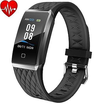 Willful Smartwatch Orologio Fitness Trakcer Donna Uomo Cardiofrequenzimetro da Polso Smart Watch Contapassi Android iOS Impermeabile IP68 Smartband