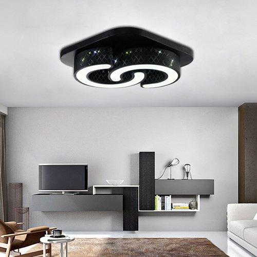 VINGO® LED Deckenleuchte 48w Deckenlampe Kaltweiss Esszimmer Markantes Design Garderobe