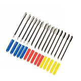 Yakamoz Pack of 15 Blade for Cutting Plotter Vinyl Cutter Graphtec CB09 Cameo Craft ROBO Pro with Springs, 30/45/60 degree