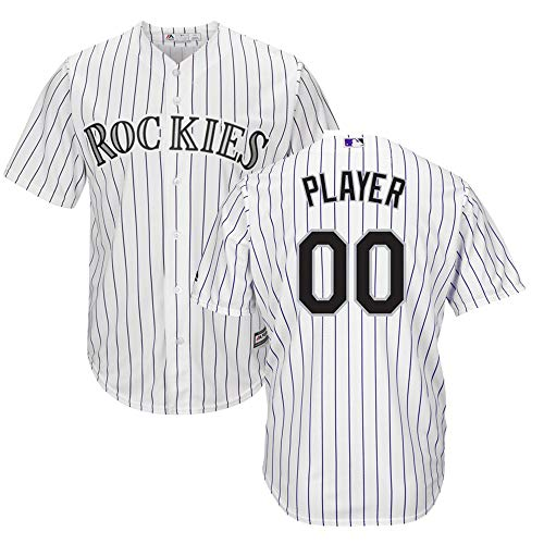 VF LSG Personalized Colorado Rockies Custom or Blank Back Youth Cool Base Home Team Jersey T-Shirt with Name and Number for Men Women Youth