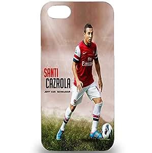 3D Case Santi Cazorla Arsenal Football Club Player Plastic Phone Case for Iphone 5/5s