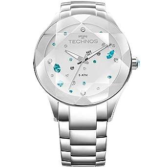 2a48105766c Relógio Feminino Technos Digital Com Cristais Swarovski 2039Avdtm 1K Prata