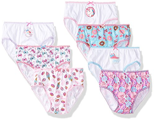 Nickelodeon Big Girls' 7-Pack Jo Bikini Brief Underwear, Jojoba/Multi, 8 (Nickelodeon Girls Underwear)