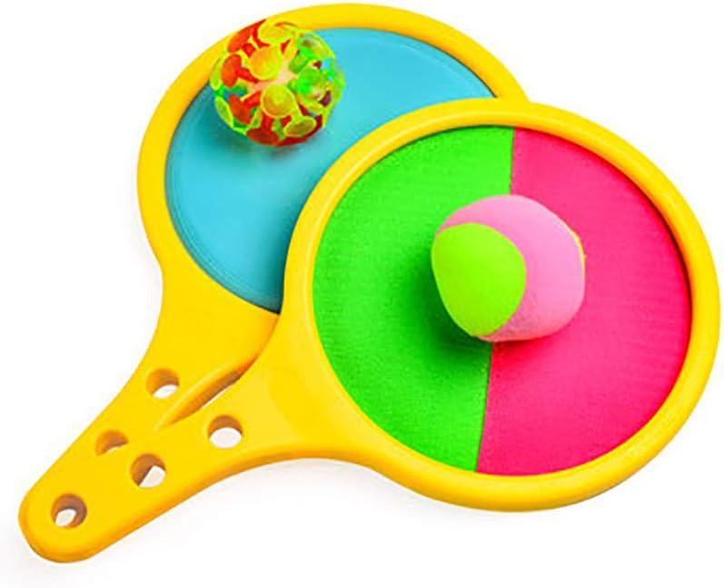 Raquetas De Tenis De Mesa, Pelota Sucker Sticky Ball Paddle Juegos De Deportes Al Aire Libre para Interiores Juguetes Adecuados para Niños Regalo De Fiesta De Cumpleaños