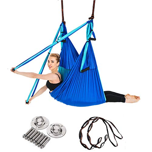 XBECO Hamaca de Yoga Set-Aerial Silk Yoga Set-Ultra Strong ...