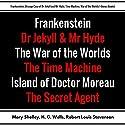 Frankenstein, Strange Case of Dr. Jekyll and Mr. Hyde, Time Machine, War of the Worlds: Plus Bonus Books Audiobook by Mary Shelley, H. G. Wells, Robert Louis Stevenson, Joseph Conrad Narrated by Korey Samuel, Mark Neilson, Christine Hughes, Rebecca Ditmen, Bob Knufeld