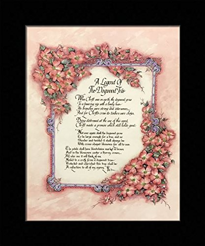 picture about Legend of the Dogwood Tree Printable identified as Black 1 inch Framed with A Legend of The DOGWOODS Tree, (Prayer/Non secular / 8-810-D) 8x10 Inch Ken Brown, Artwork Print Poster