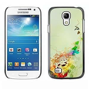 For Samsung Galaxy S4 Mini i9190 - Butterfly Ladybug Colourful Digital Art /Modelo de la piel protectora de la cubierta del caso/ - Super Marley Shop -