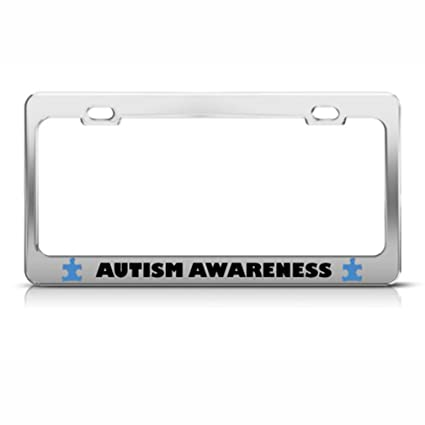 Amazon.com: Autism Awareness Metal License Plate Frame Tag Holder ...