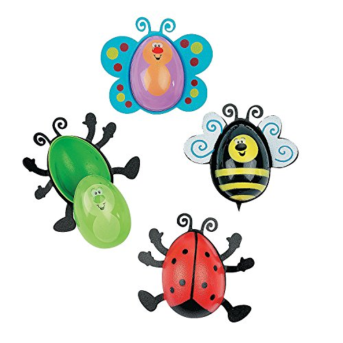 Bug Shaped Plastic Easter Eggs (Set of 12 Eggs)
