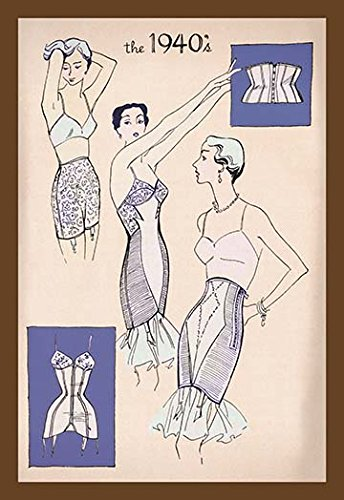 Nylon in Corsetry 1940 12x18 Giclee On Canvas