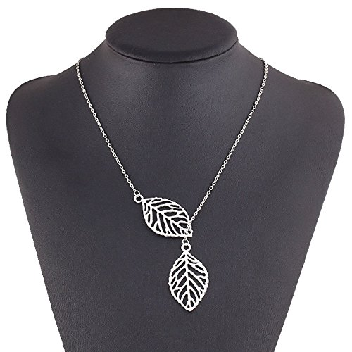 FEDONA Fashion Pendant Necklace Leaf Y Shaped Statement Necklace Jewelry for Women Girls