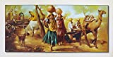 Avercart Beautiful Indian Village Painting Vinage Scene of India Poster 26x14 inch Unframed (66x35 cm rolled)