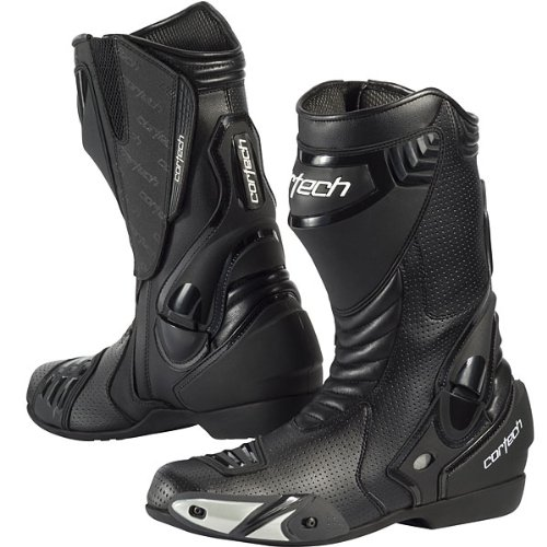 Cortech Latigo Air Men's Street Bike Motorcycle Boots - Black/Black/Size 8.5
