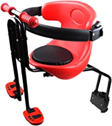 Baby Fahrrad Sitz von 8 Monaten bis 5 Jahren Acelectronic Fahrrad Sicherheits-Kindersitz Herrenfahrrad Kindersitz Vorn für Damen u Rot+Schwarz