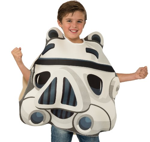 [Angry Birds Star Wars Stormtrooper Child's Costume Tunic, One Size] (Blue Bull Mascot Costume)