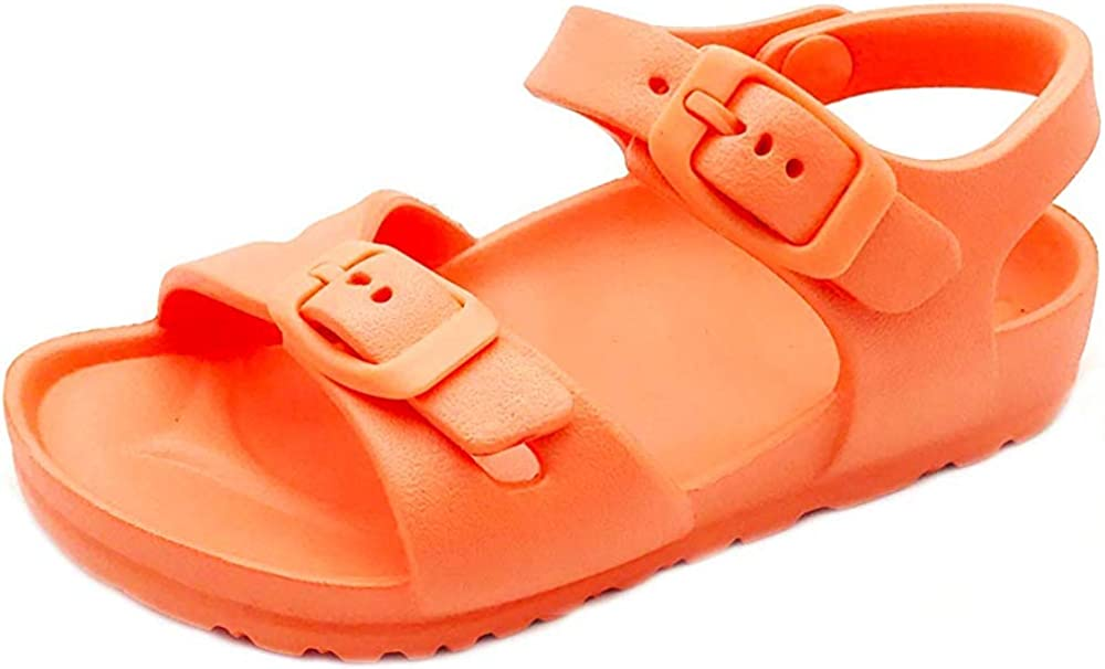 PEBBLES SHOES Toddler and Girl/'s Waterproof Sandal with Adjustable Straps and Buckles EVA Upper Material and Odor Resistant Footbed with Arch Support Flexible and Lightweight Synthetic Midsole