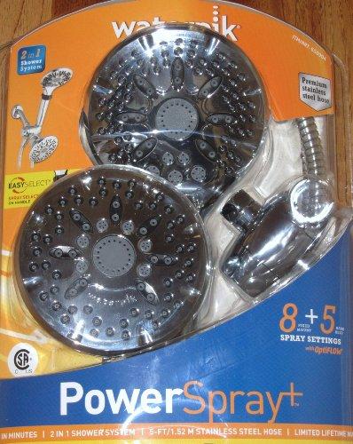 Waterpik PowerSpray Chrome Shower Head Combo Pack (Handheld + Wall Mount)
