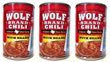Wolf Brand Texas Style Chili with Beans (3 Pack) 15 oz Cans