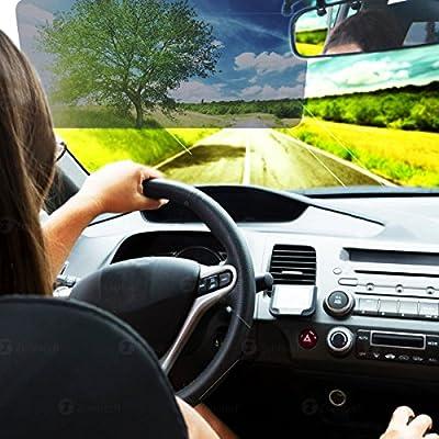 Zone Tech Car Anti-Glare Tinted Windshield Extender - Anti-Glare Sun & UV Rays Block Visor Extender for Any Car, Truck or RV: Automotive