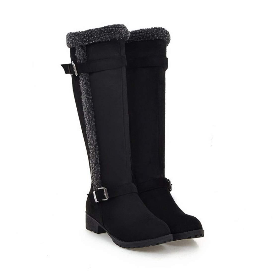 DANDANJIE Damen Stiefel Flache Ferse Runde Kappe Stiefel Komfort Große Schuhe für 2018 Herbst & Winter