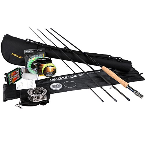 Goture Fly Fishing Combo,Fly Rod and Reel Complete Starter Kit for Beginners