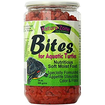 Nature Zone Bites For Aquatic Turtles, Soft Moist Food, 24-Ounce