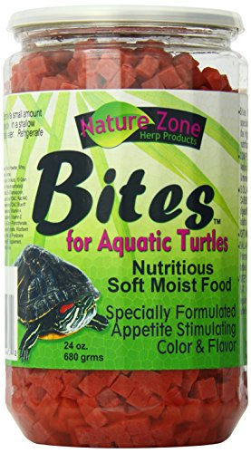 - Nature Zone Bites For Aquatic Turtles, Soft Moist Food, 24-Ounce