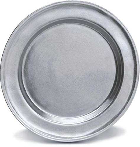 Pack of 2 Classic Hand Crafted Statesmetal Kitchen Dining Charger Plates 13.75'' by CC Home Furnishings