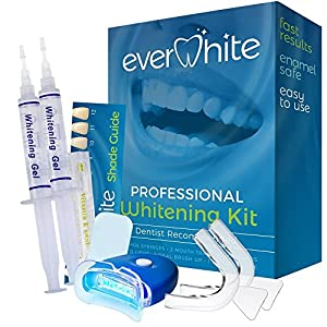 EverWhite At Home Professional Teeth Whitening Kit delivers professional results after just one use! Same DDS Grade as expensive kits purchased from dentists! EverWhite uses the same professional grade whitening gel that dentists use for a fraction o...