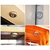 DZT1968 3 LED Wall Light Kitchen Cabinet Closet Lighting Sticker Tap Touch Lamp (Silver)