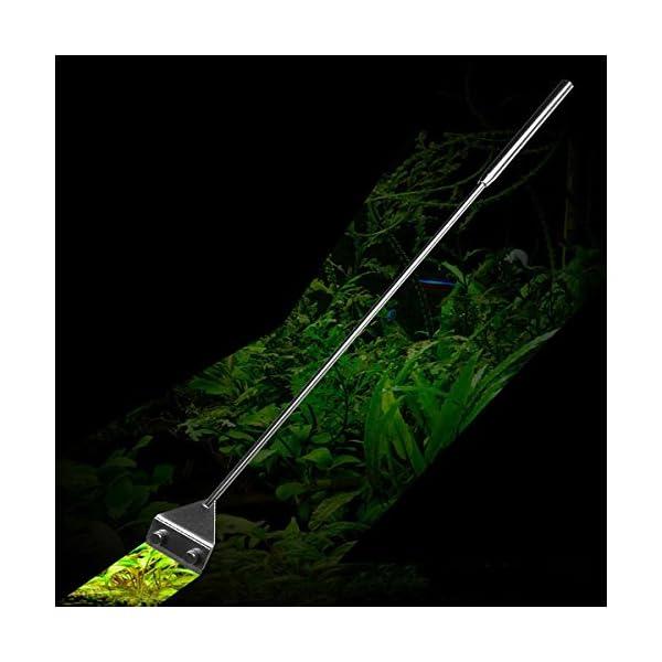 MiguCo Stainless Steel Algae Scraper Cleaner with 10 Blades for Aquarium Fish Plant Glass Tank 9