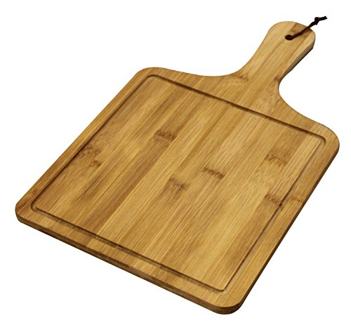 Large Bamboo Cutting Board - Serving Tray - All Natural Bamboo Fruit Plate, Cheese Plate, Serving Board - Chopping Board - Square - (16 x 9.5) ()