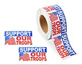 Support Our Troops American Flag Stickers (1 Roll of 250 Stickers) Review