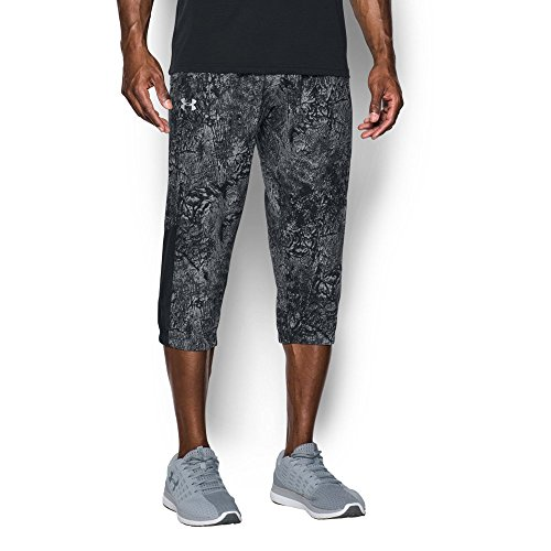 Under Armour Men's Storm Run 3/4 Pants, Black/Reflective, Medium (Stretch Power 3/4 Pant)