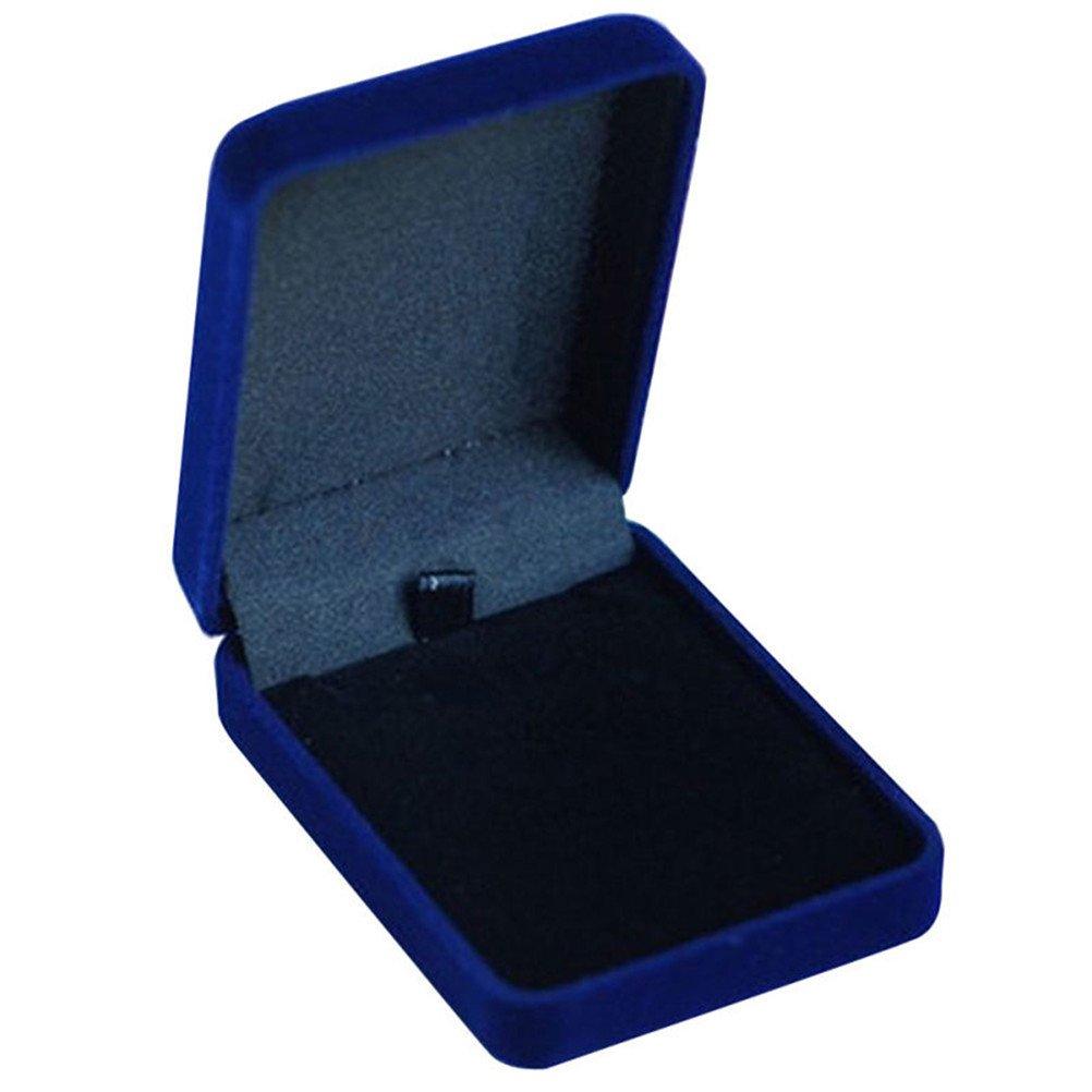 super1798ベルベットジュエリーコンテナギフト表示ボックスネックレスリングブレスレットストレージケース ブルー B079YKMFNR ブルー ブルー