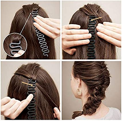 Amazon Com French Centipede Hair Braiding Tool Braider Roller Hook With Magic Hair Twist Styling Bun Hair Band Accessories Arts Crafts Sewing
