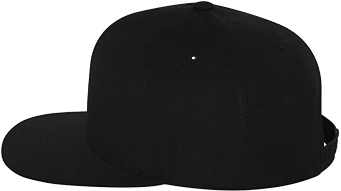 dfb6af4e7780c Original Yupoong Pro-Style Wool Blend Snapback Snap Back Blank Hat Baseball  Cap 6098M - Black at Amazon Men s Clothing store  Black Snap Cap Flexfit