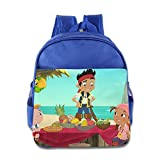 Kids Jake And The Never Land Pirates School Backpack Cartoon Baby Boys Girls School Bag RoyalBlue